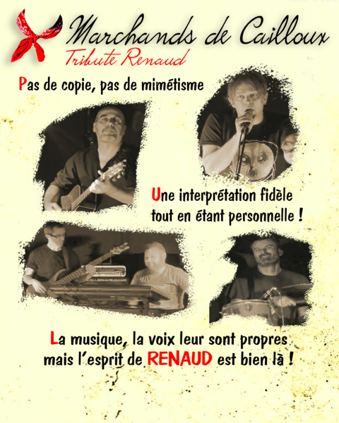 Flyer Marchands de Cailloux Tribute Renaud